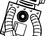 Fatique Robot Coloring Page