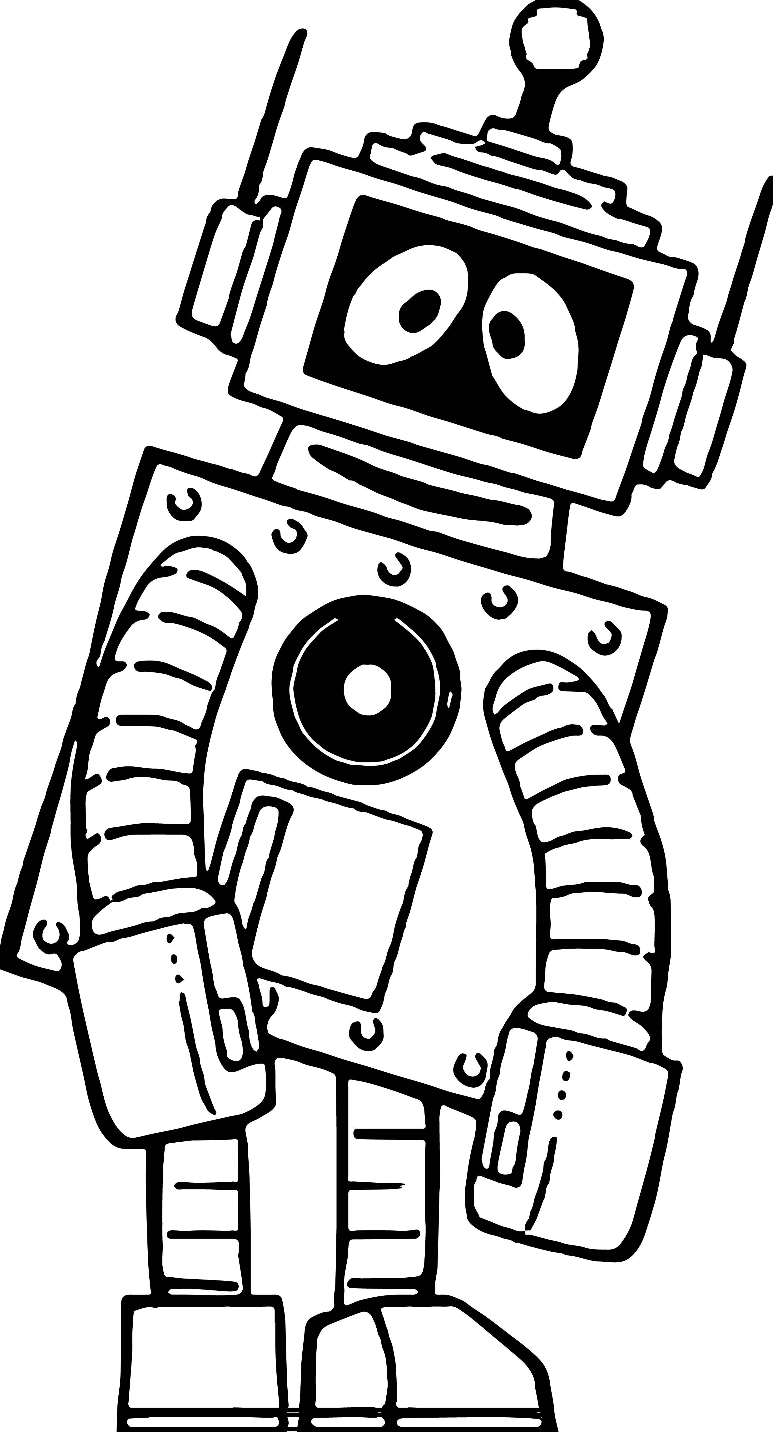 Fatique Robot Coloring Page