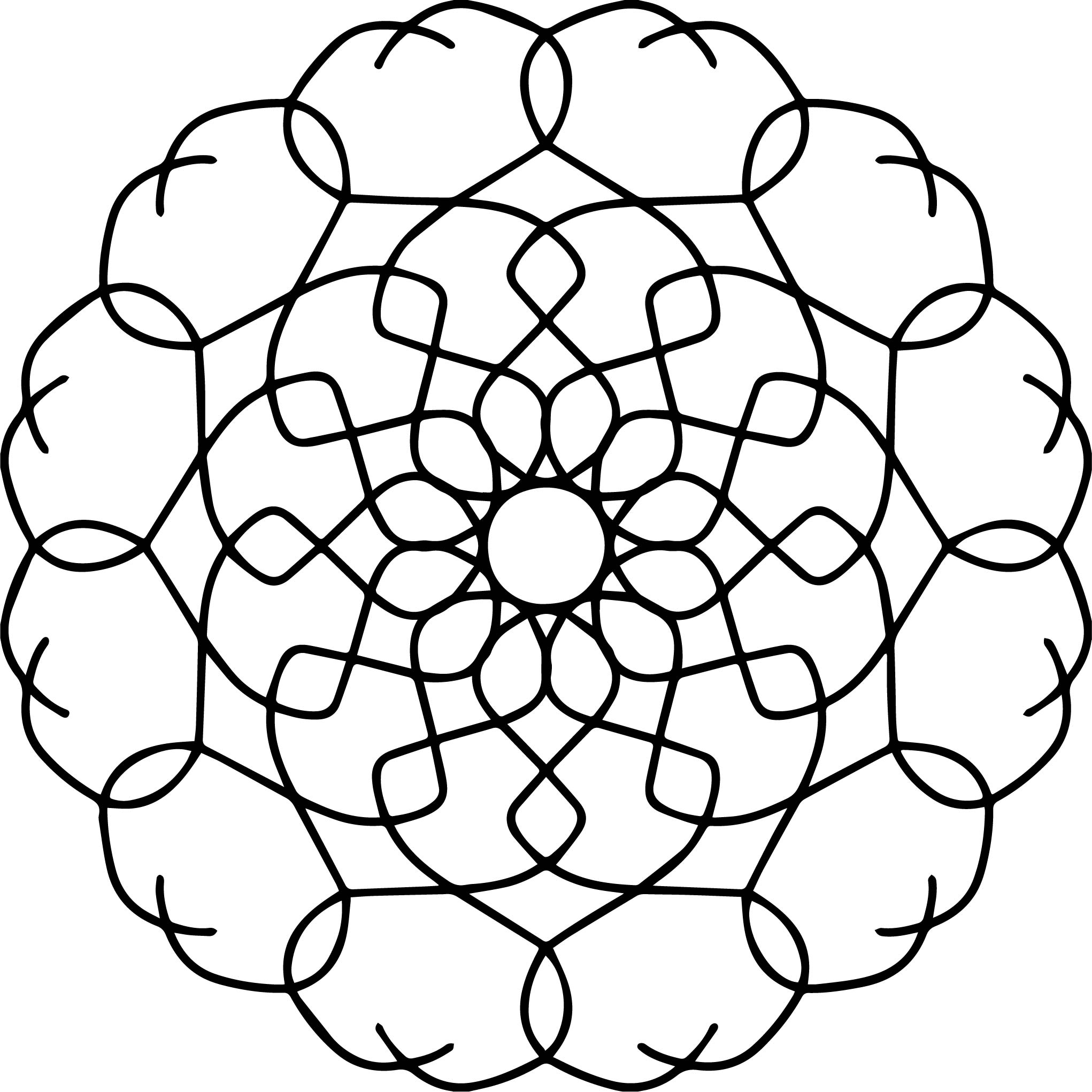 Fine Basic Good Mandala Coloring Page