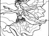 Fly Angel Girl Coloring Page