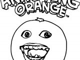 Free The Annoying Orange Coloring Page