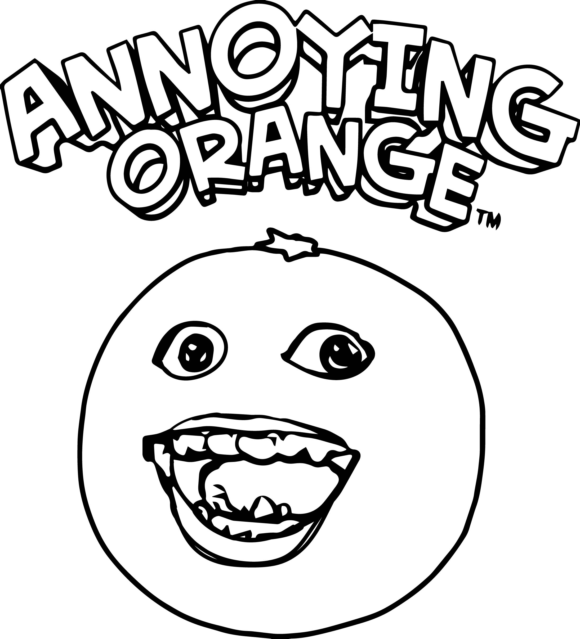 annoying orange coloring pages free the annoying orange coloring page