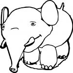 Funny Elephant Coloring Page