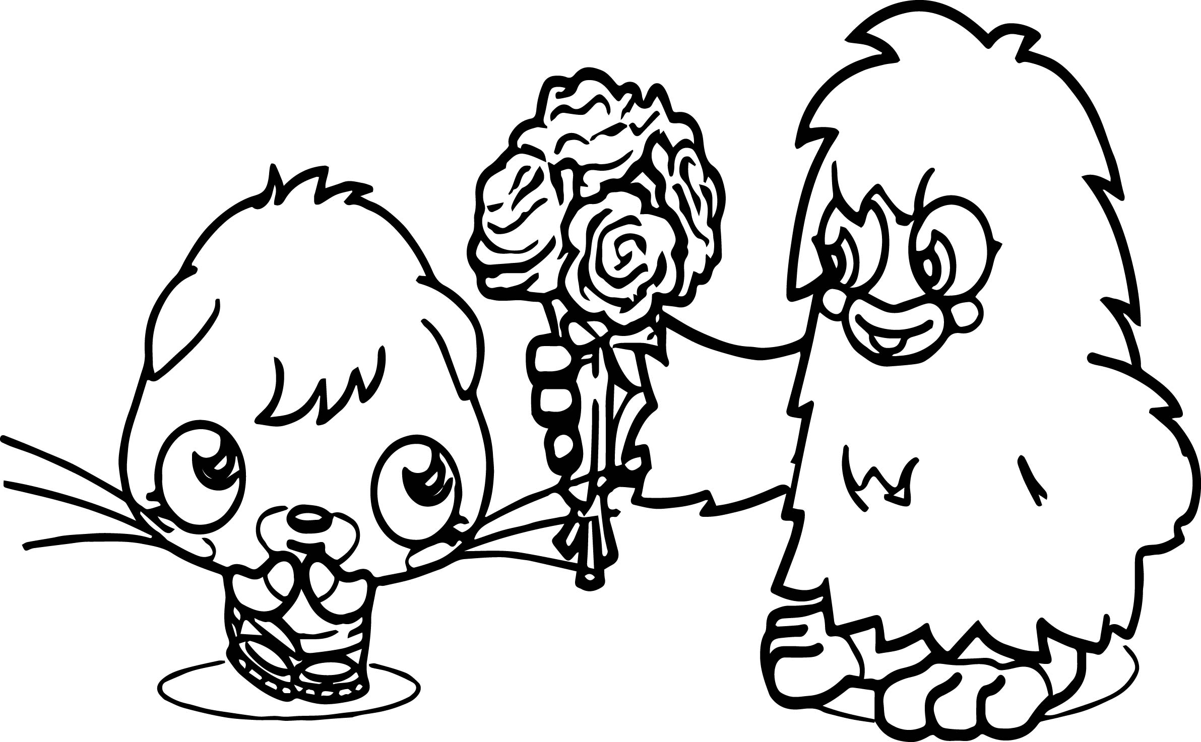 Furi Poppet Valentines Coloring Page