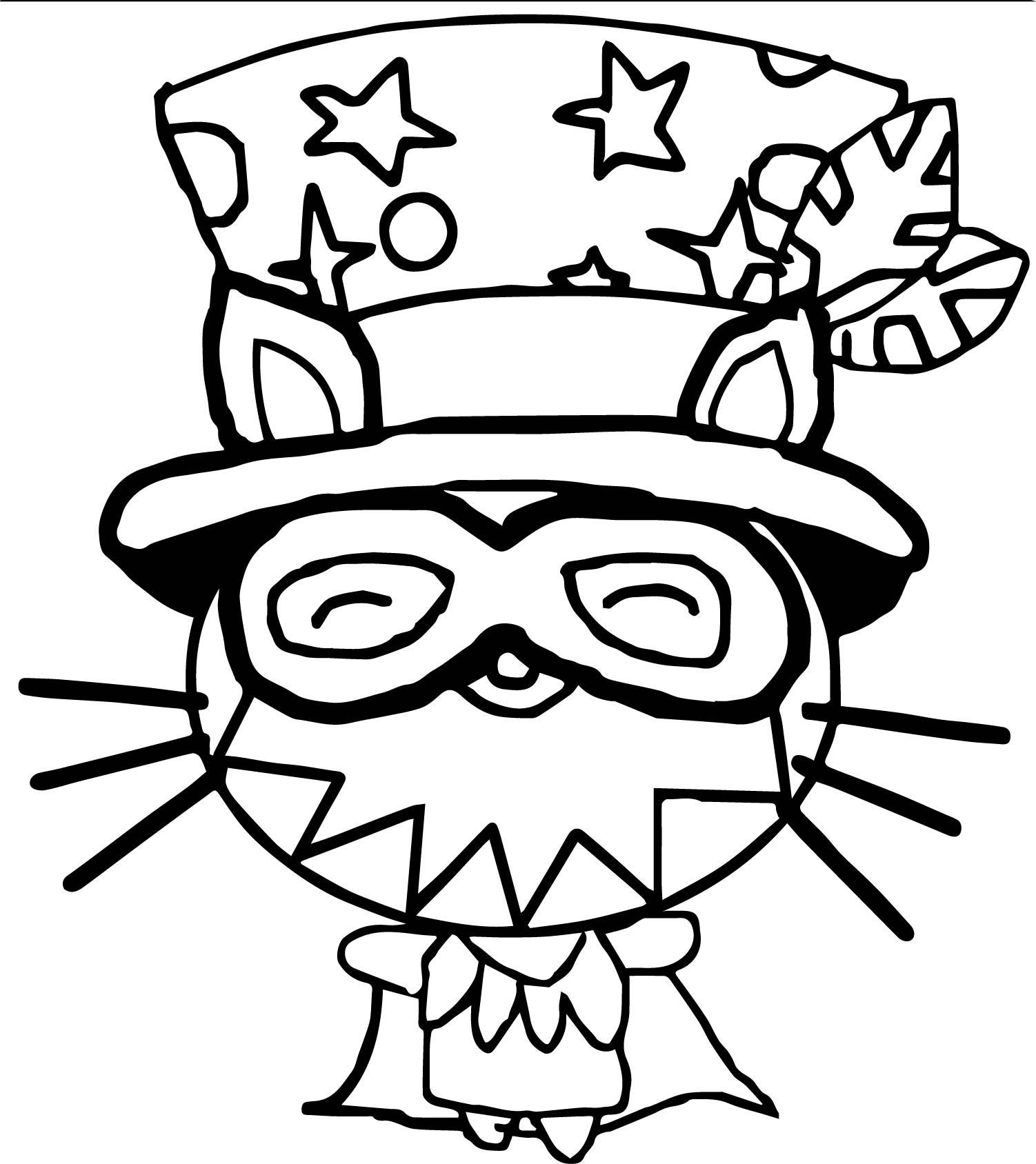 Furnando Moshi Monsters Coloring Page