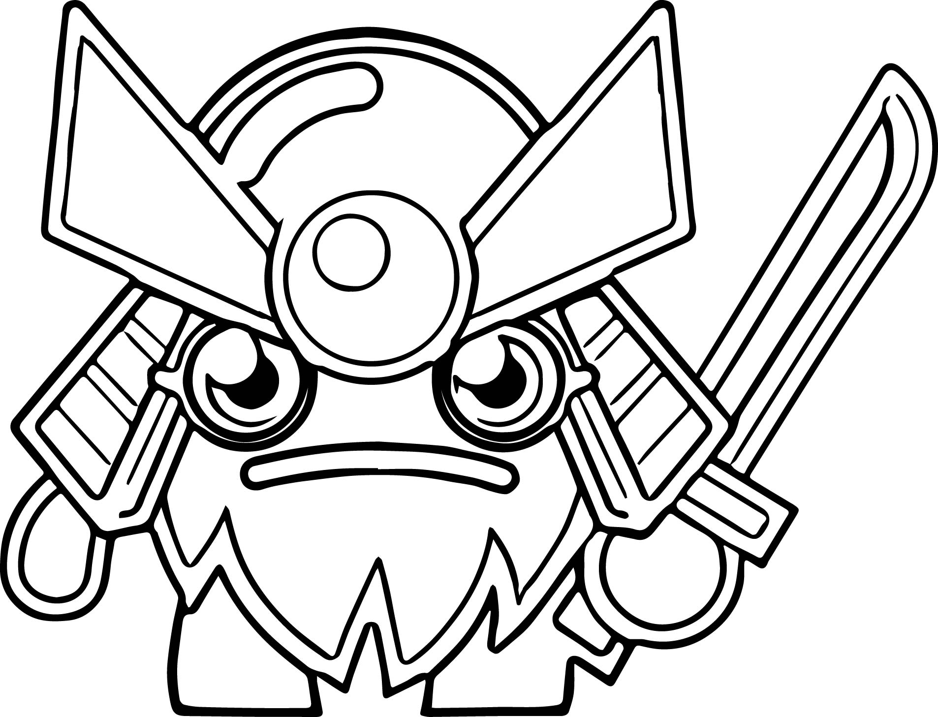 General Fuzuki Ultra Rare Coloring Page
