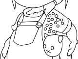 Girl Cartoon Character Coloring Page