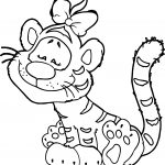 Girl Tiger Coloring Page