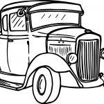 Going Vintage Antique Car Coloring Page