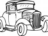 Going Vintage Antique Car Coloring Page