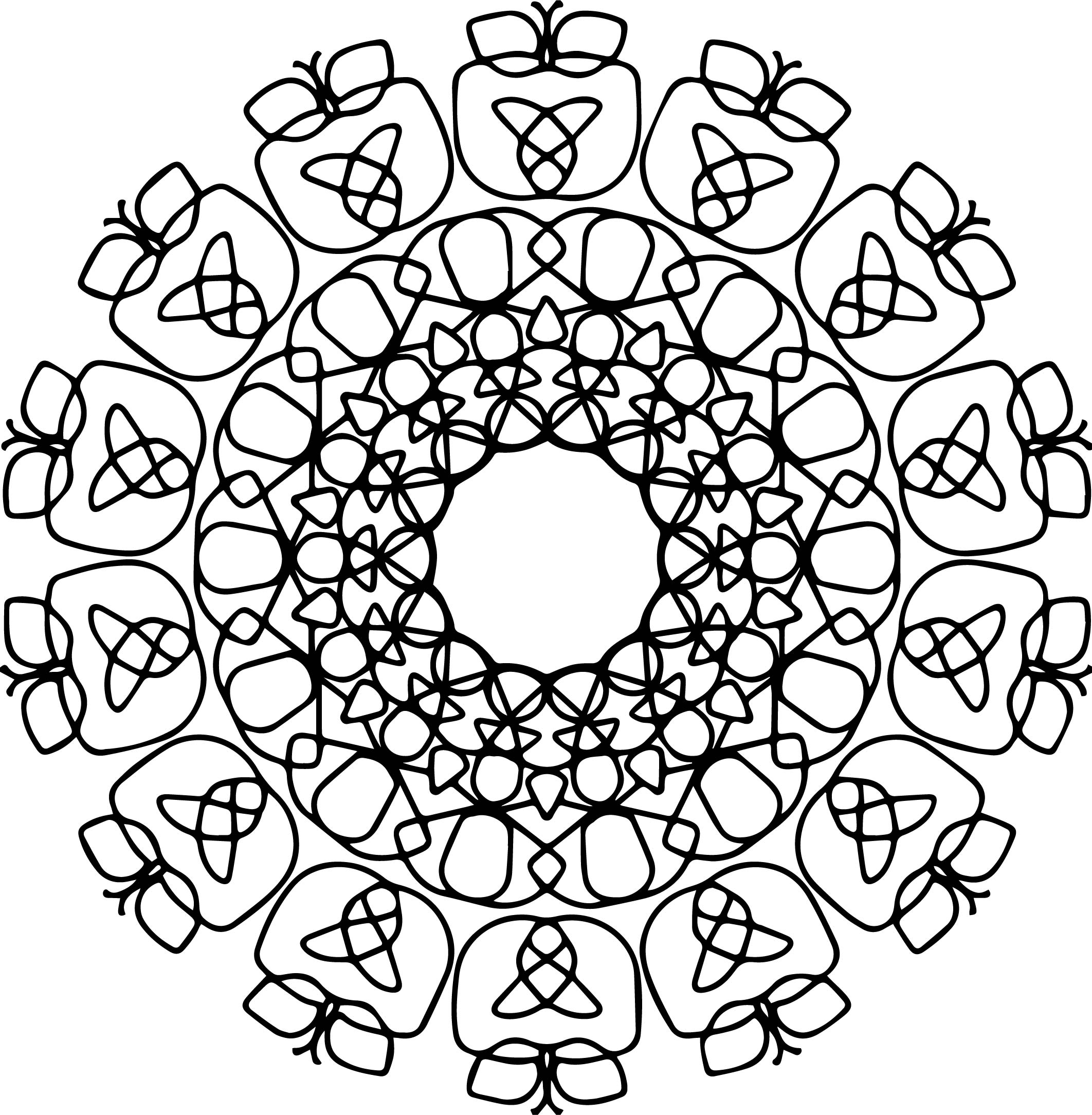 Good Mandala Coloring Page