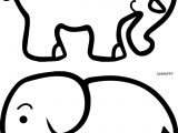 Happy Unhappy Elephant Coloring Page