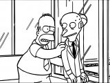 Homer Simpson Mr Burns The Simpsons Coloring Page