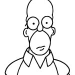 Homer The Simpsons Coloring Pages
