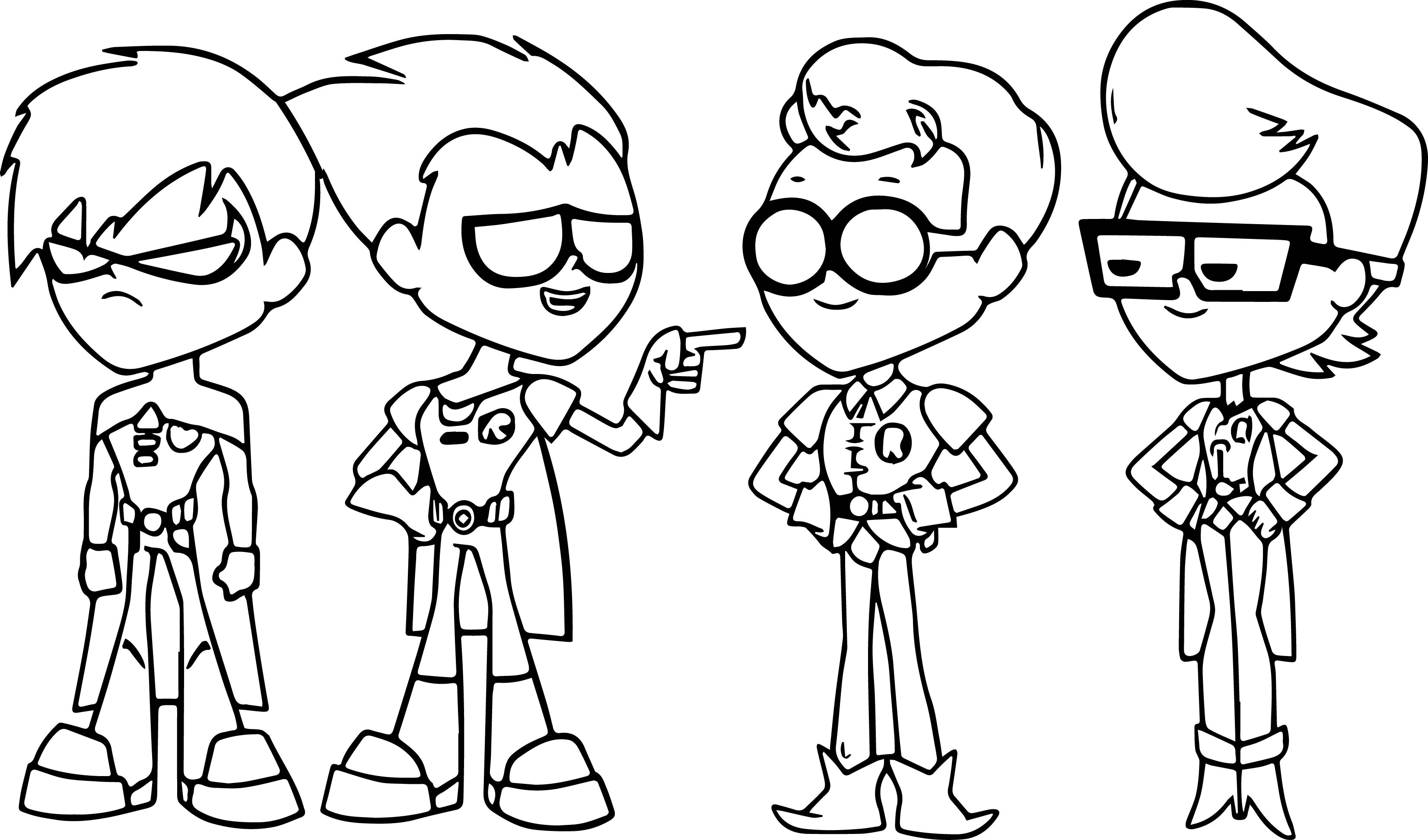 Image Teen Titans Go Episode 76 The Best Robin Coloring Page