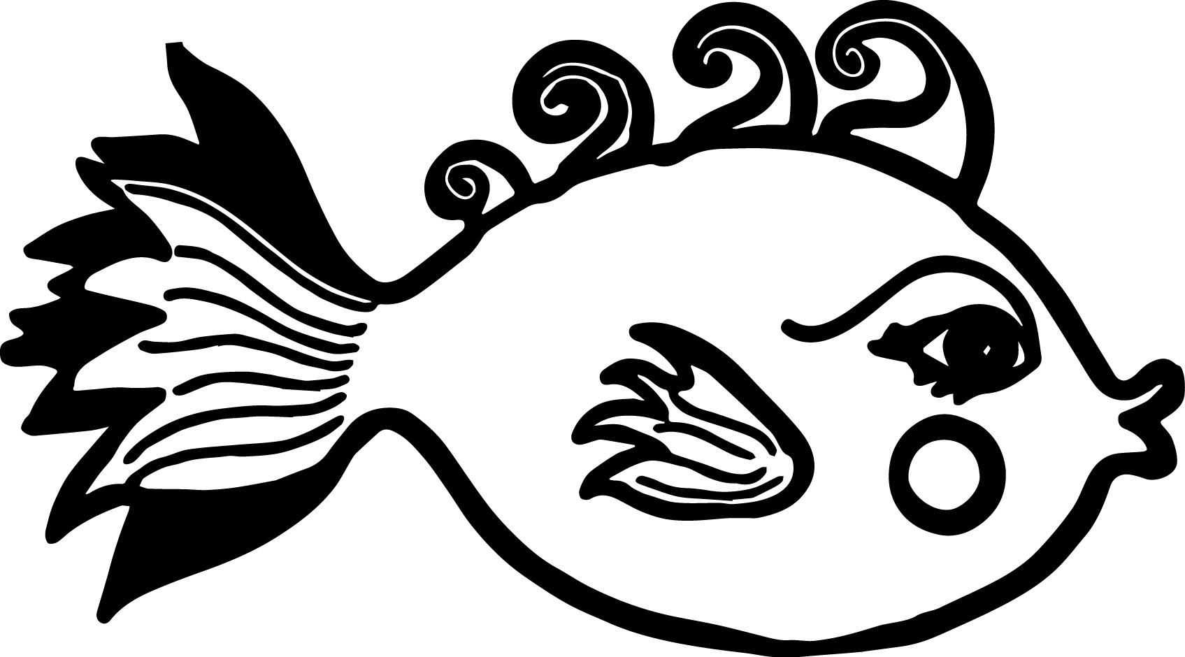 coloring pages cartoon fish - photo#47