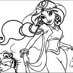 Jasmine Wallpaper Aladdin Coloring Page