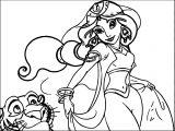 Jasmine Wallpaper Aladdin Coloring Page