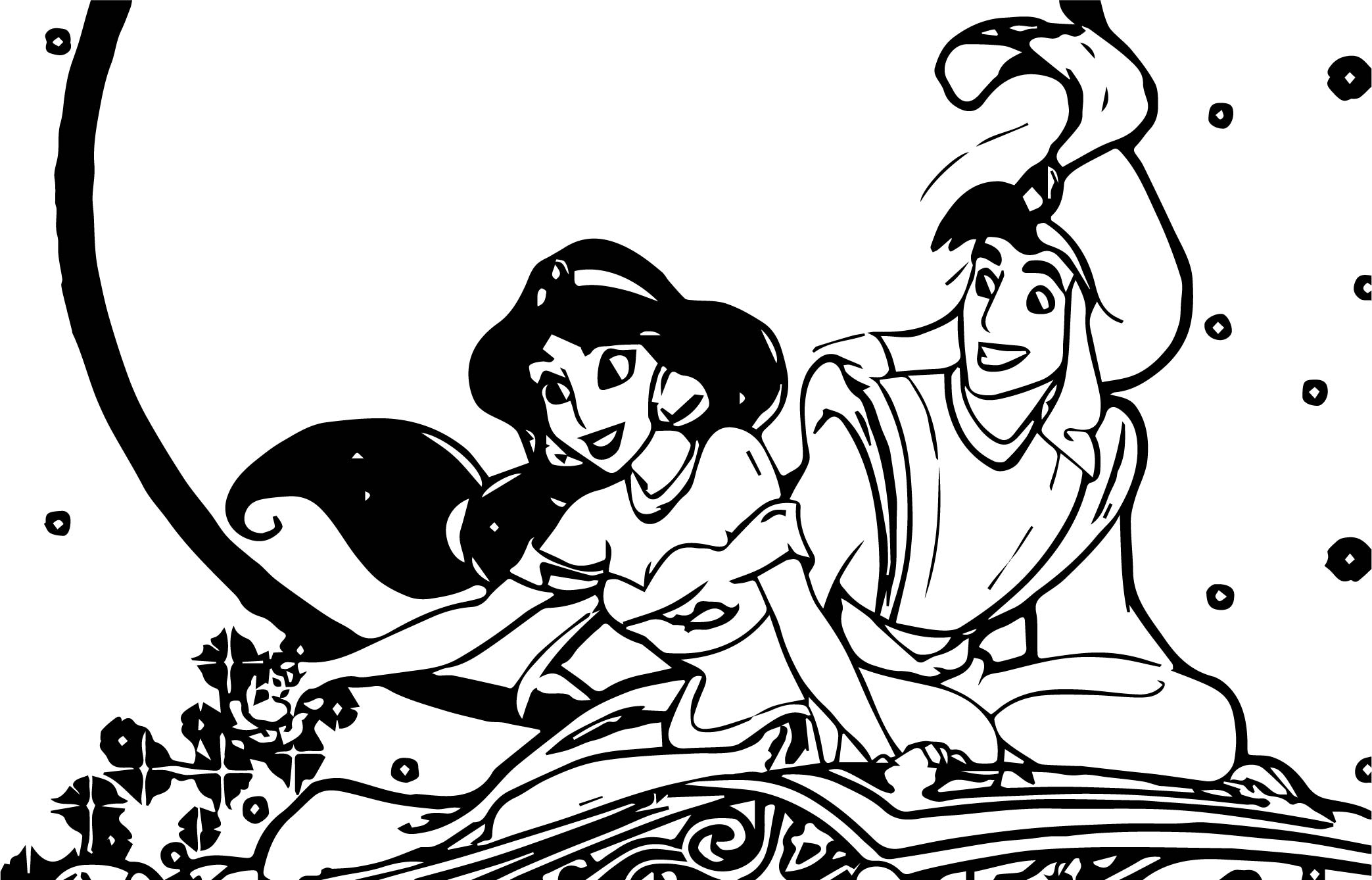 Jasmine Wallpaper Disney Princess Coloring Page