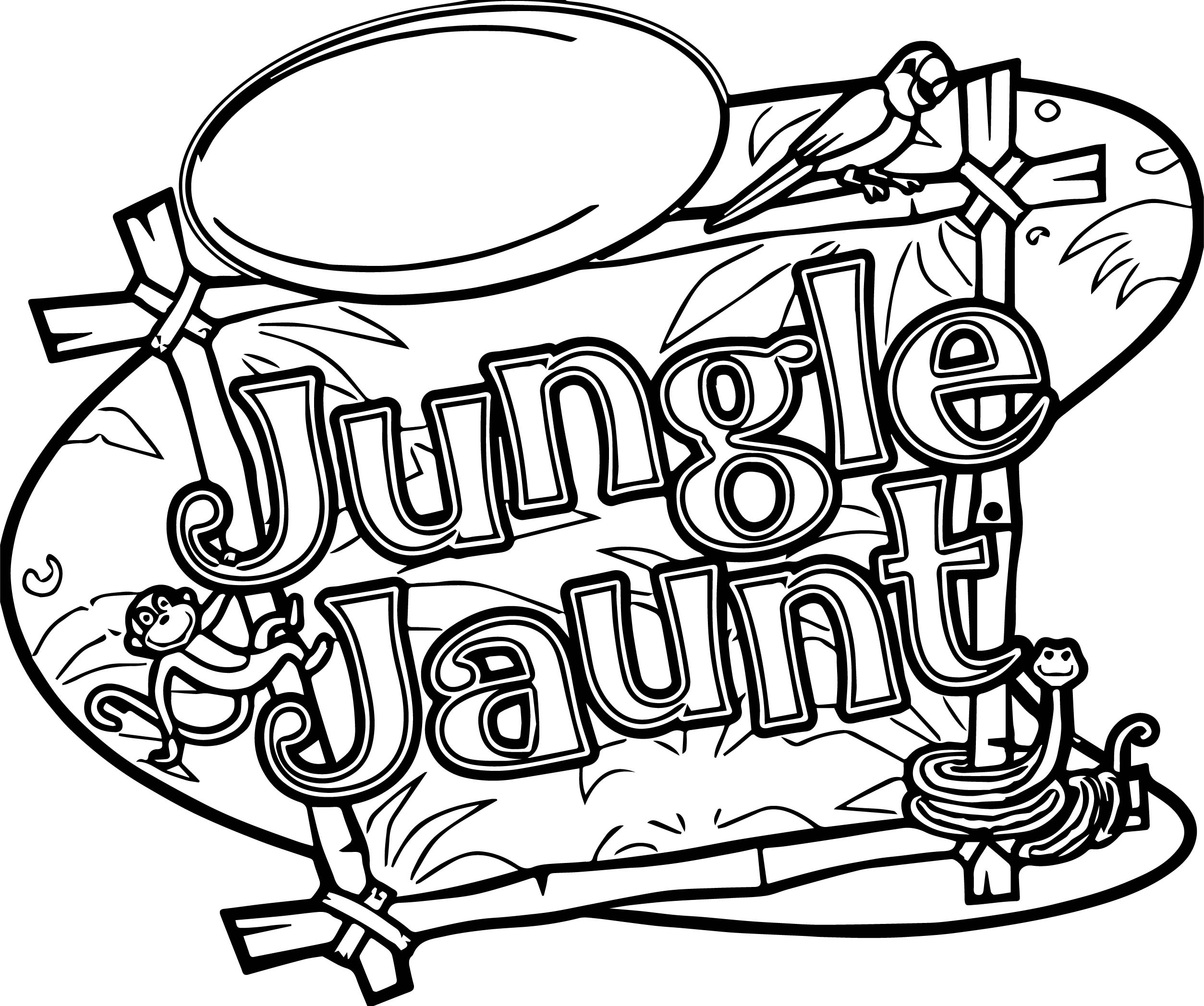 jungle jaunt coloring pages - photo#1