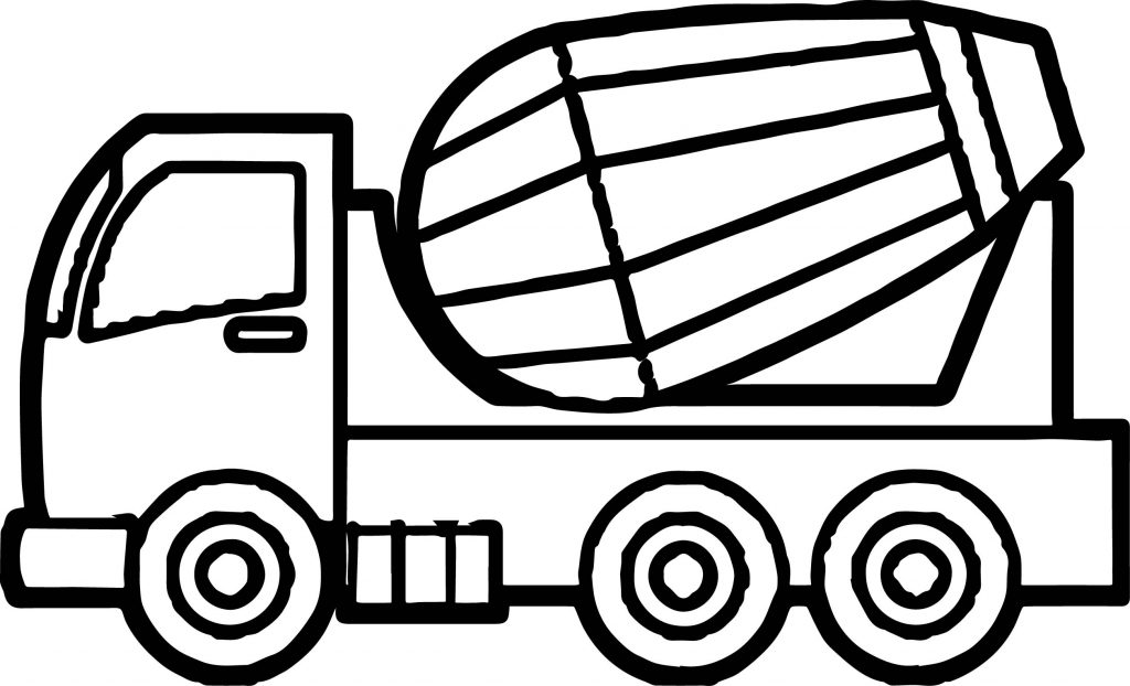 Just Cement Truck Coloring Page Wecoloringpage Com