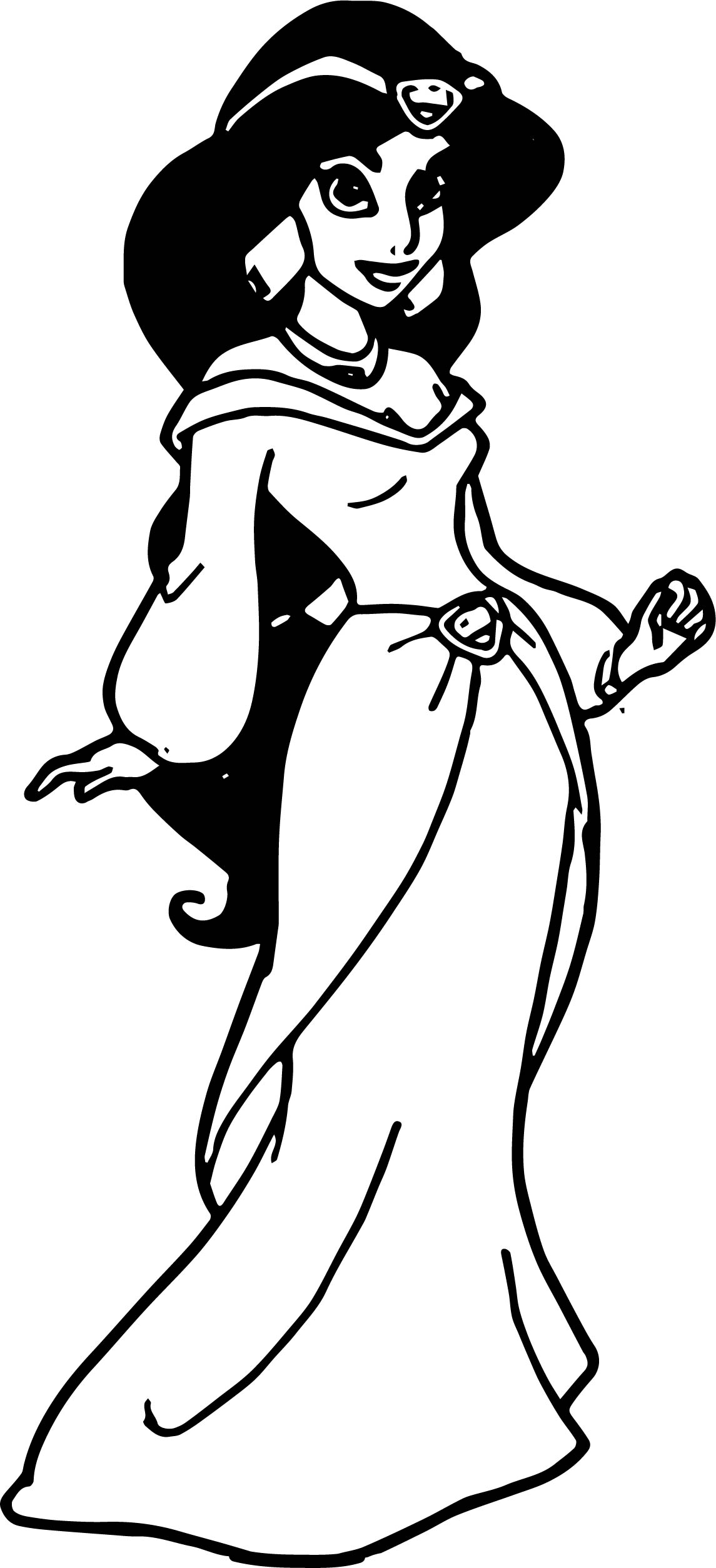Just Jasmine Coloring Page