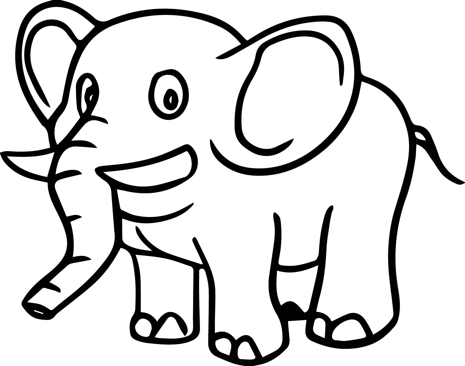 Just One Elephant Coloring Page
