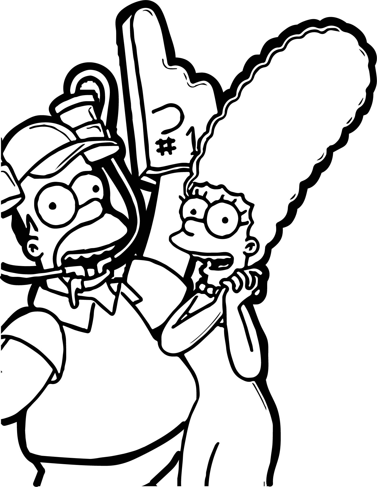 Key Art Simpsons Coloring Page