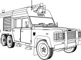 Land Rover 127HCBG Fire Truck Coloring Page