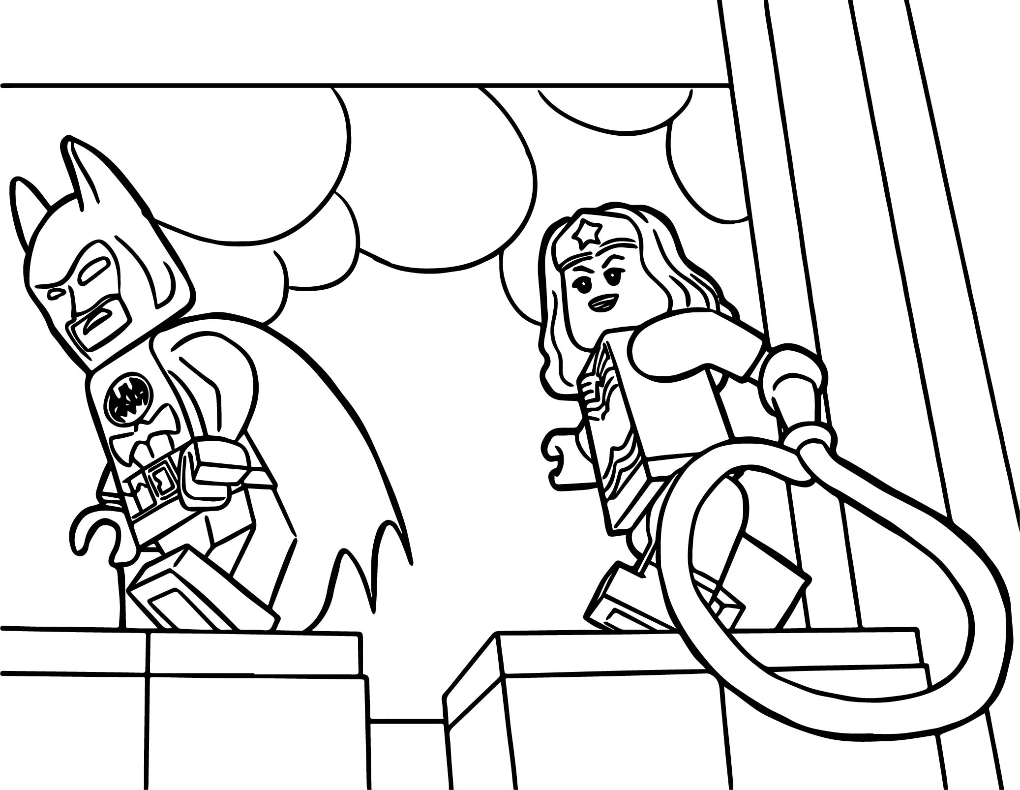 Lego Wonder Woman Coloring Pages