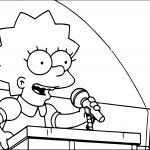 Lisa Simpson Talking Coloring Page