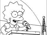 Lisa Simpson Talking Coloring Page