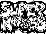 Logo Supernoobs Coloring Page