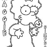 Maggie The Simpsons Coloring Page