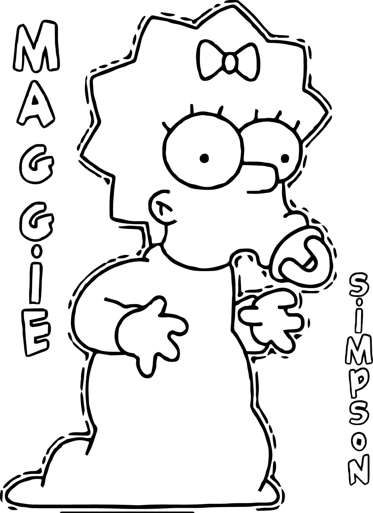 Maggie the simpsons coloring page for Coloring pages simpsons