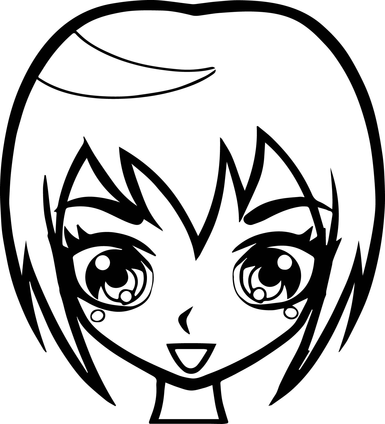 girl face coloring pages - photo#36
