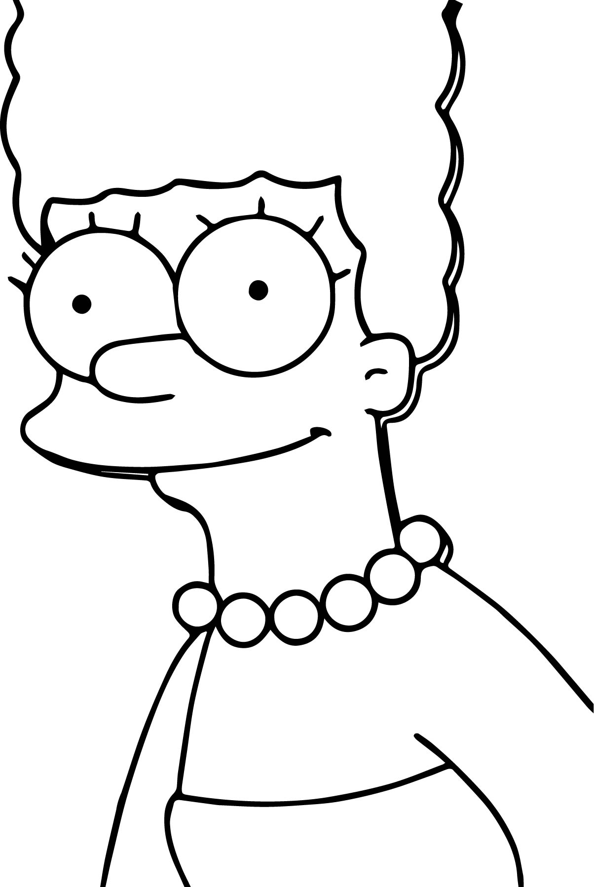 Marge the simpsons coloring page for Coloring pages simpsons