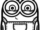 Minion Bob And Bear Toy Coloring Page