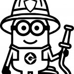 Minion Fire Department Coloring Page