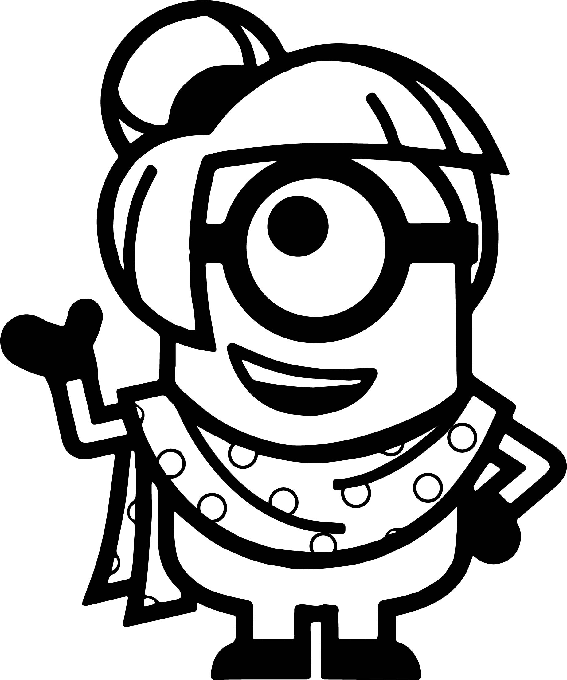 Minion Girl Coloring Page