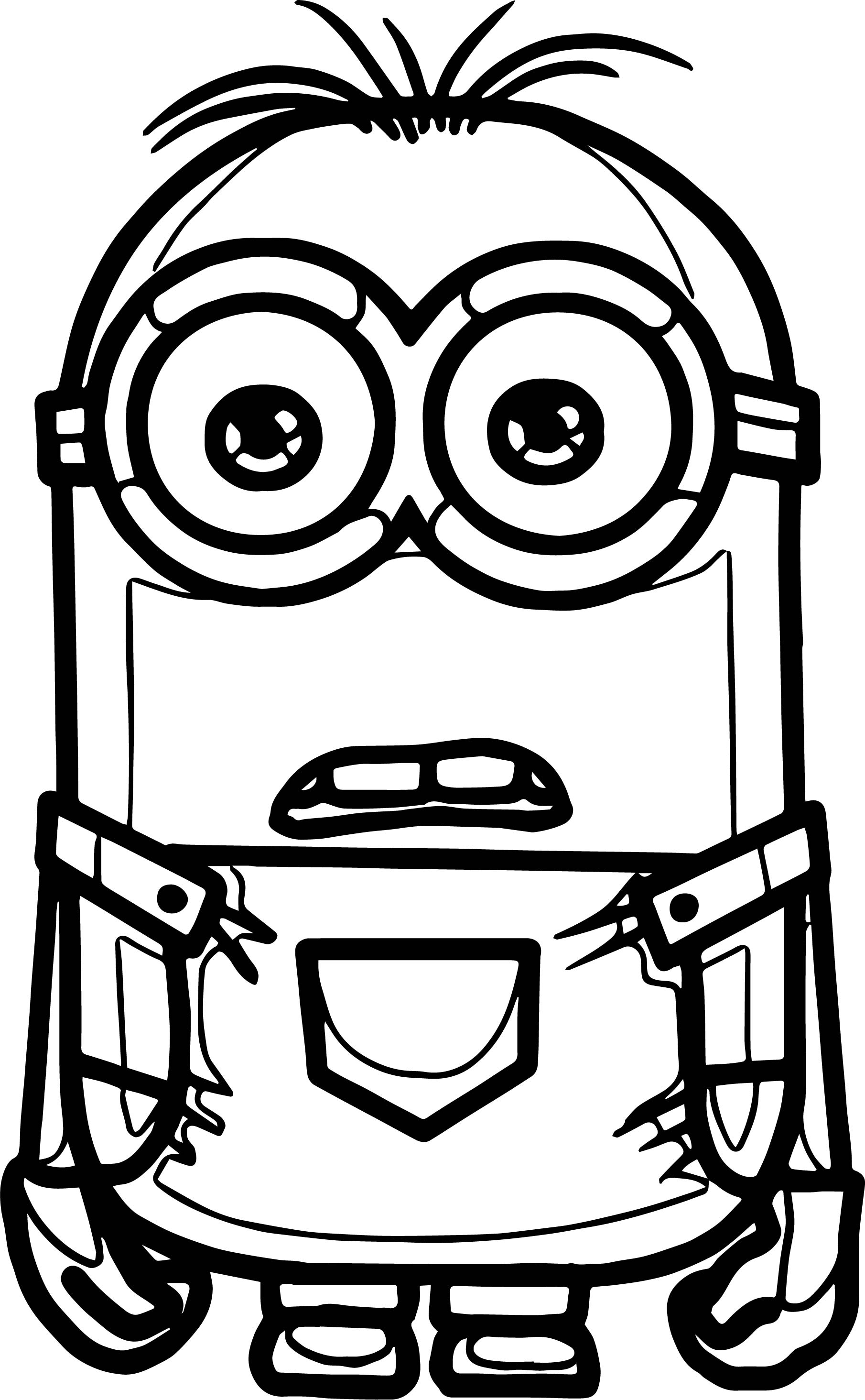Attractive Inspiration 24 Minion Stuart Coloring Pages As Girl