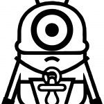 Minions Baby Coloring Page