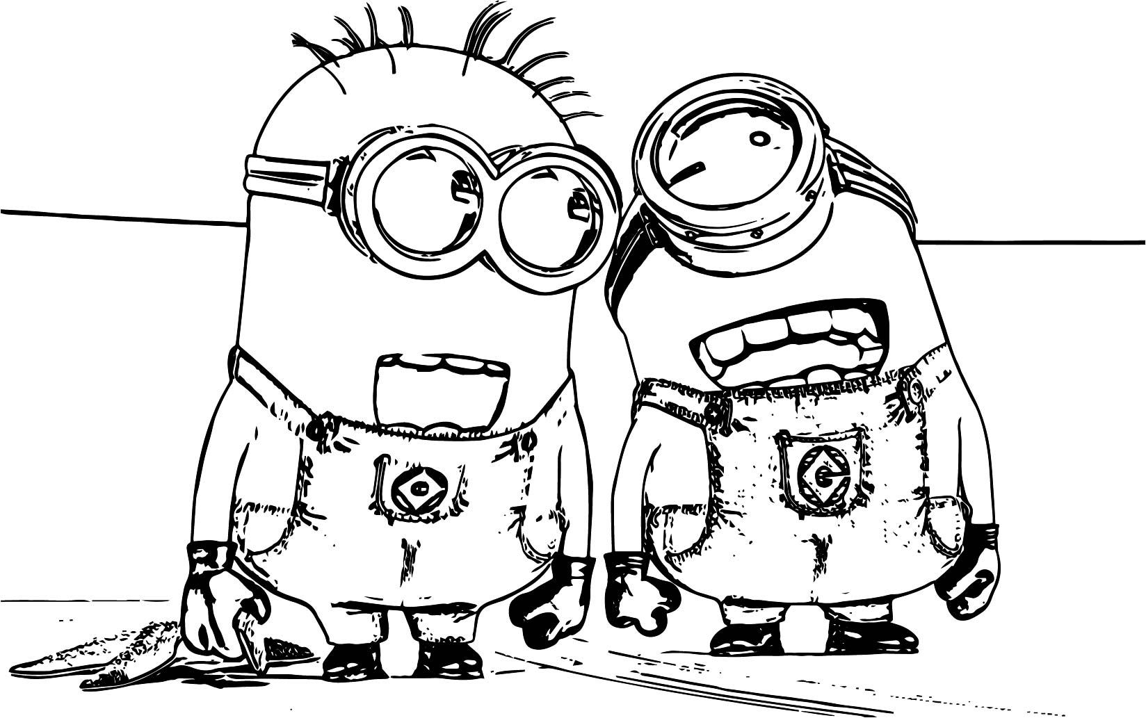 Minions Laugh Coloring Page