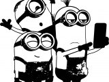 Minions Selfie Coloring Page