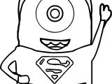 Minions Superman Coloring Page