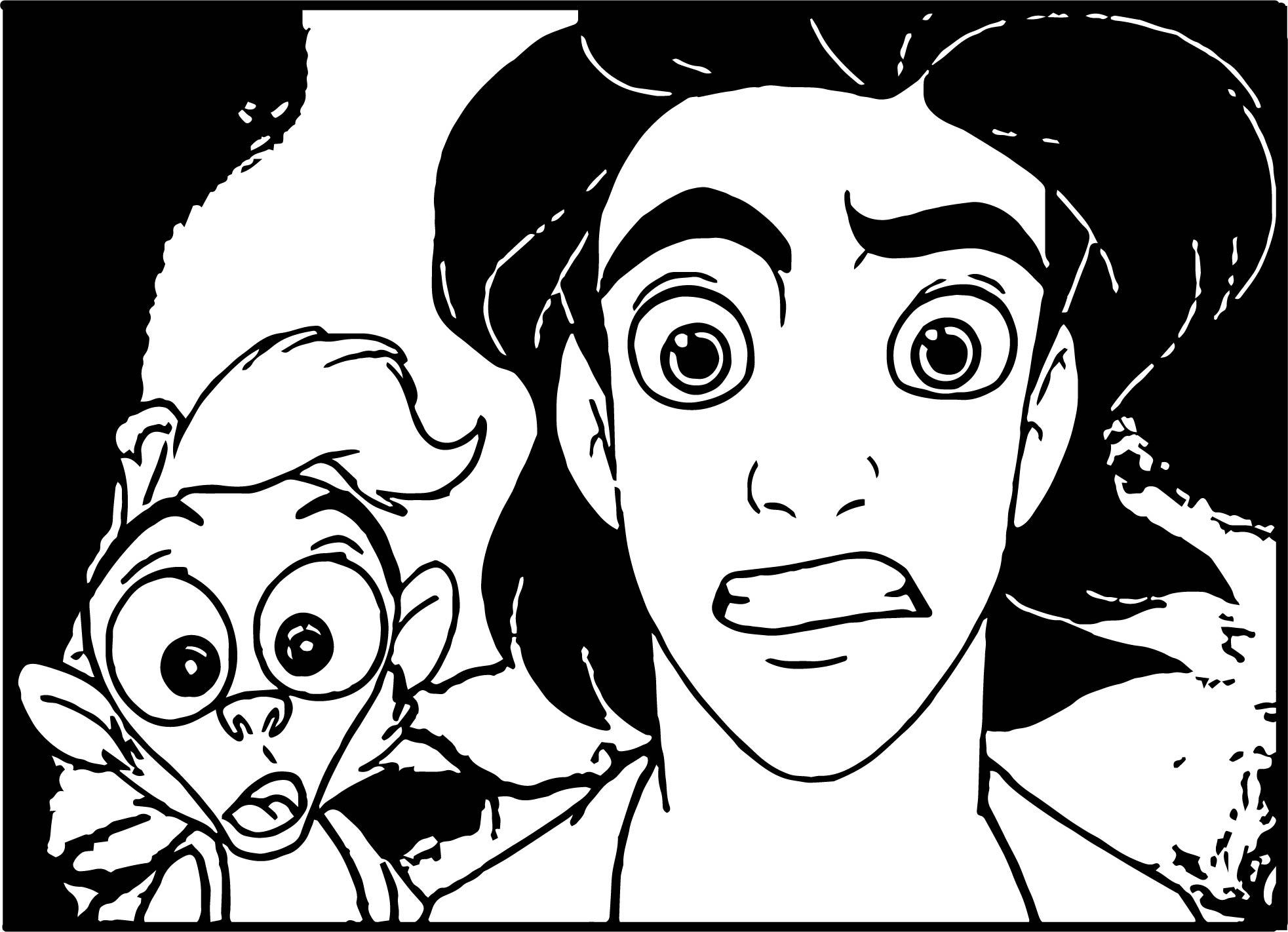 Monkey Prince Aladdin Shock Walt Disney Characters