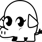 Moshi Monsters Pig Coloring Page