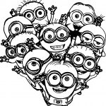 Multiple Minions Coloring Pages