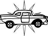 New Vintage Antique Car Coloring Page