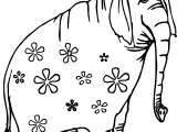 Old Elephant Flower Coloring Page